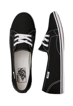 Vans - Leah Black/True White - Girl Shoes