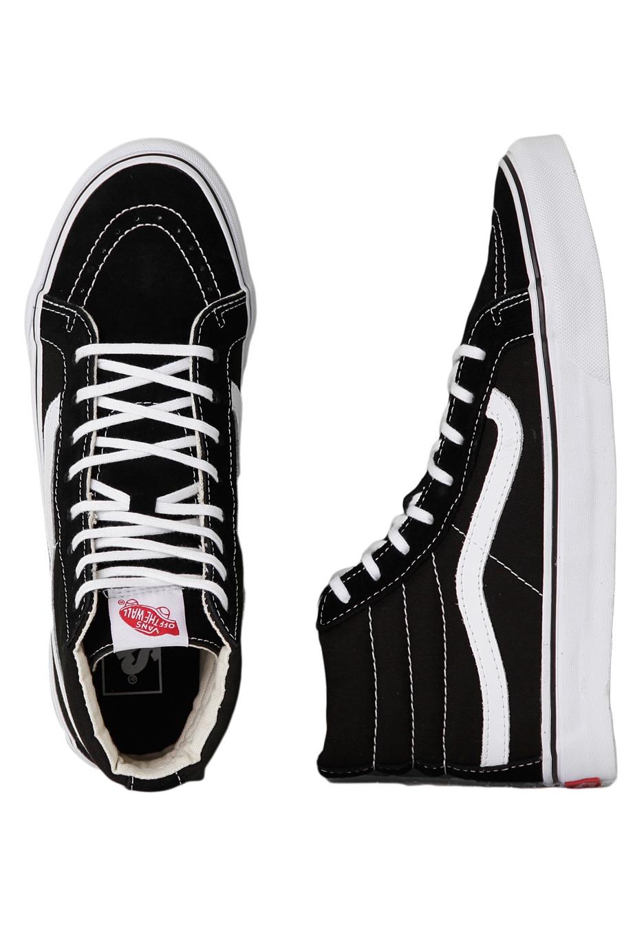 Vans - SK8-Hi Slim Frost Black/True White - Girl Shoes - Impericon.com ...