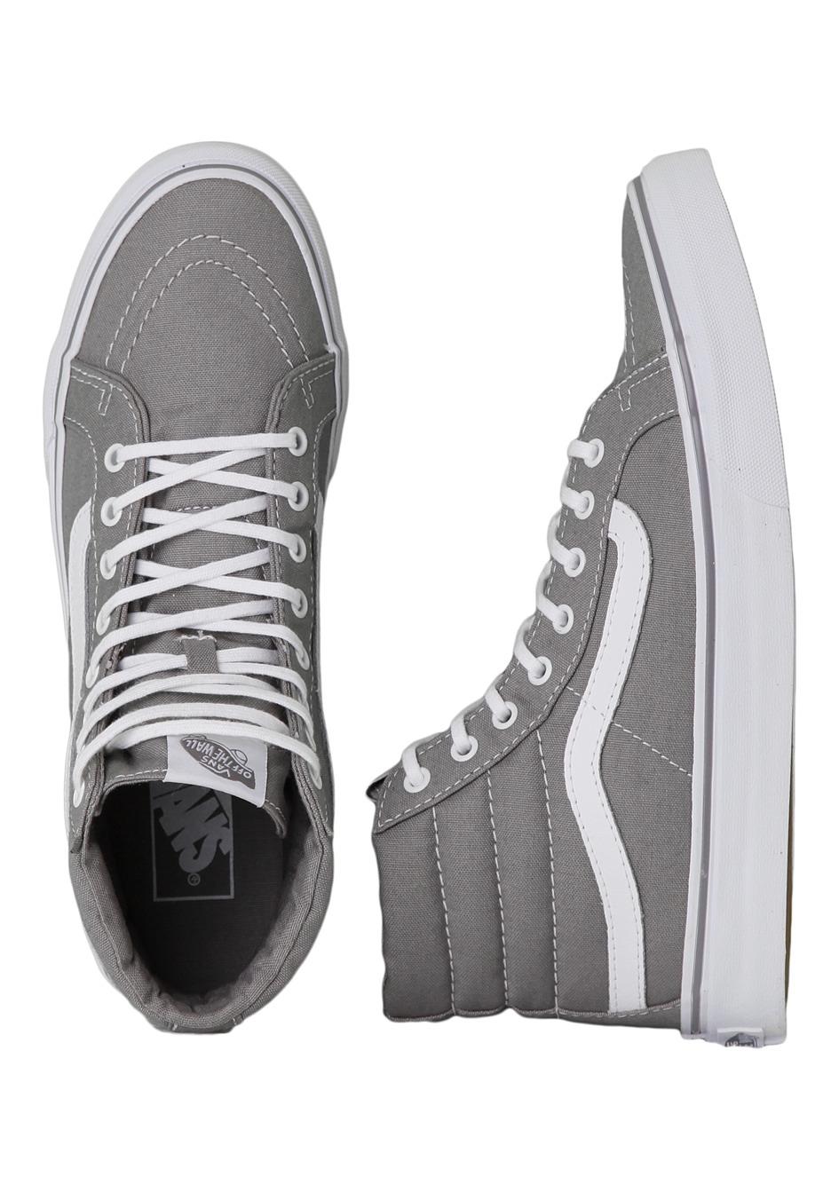 458f7b4c564dff Vans - SK8-Hi Slim Frost Grey True White - Girl Shoes .