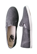 Vans - Slip-On Lo Pro Washed Black - Girl Shoes