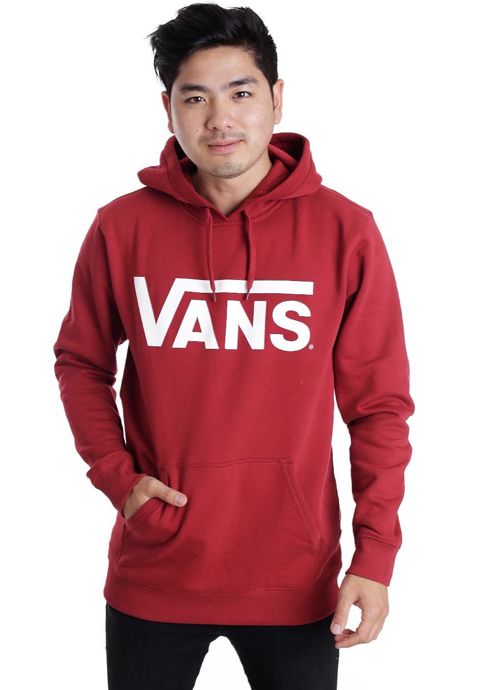 White red hoodie