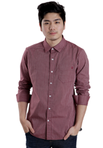 Volcom - Why Factor Stripe Plum - Shirt
