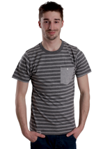 Wemoto - Blake Dark Heather/Heather Blockstriped - T-Shirt