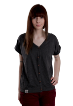 Wemoto - Flore Black Melange - Girl Shirt