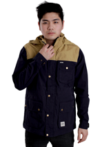 Wemoto - Gus Hemp/Navy Blue - Hooded Jacket