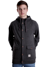 Wemoto - Hunter II Black Melange - Hooded Cardigan