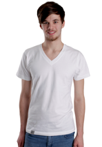 Wemoto - Perry White - V Neck T-Shirt