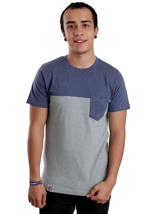 Wemoto - Shorty Darkblue Melange/Pine - T-Shirt