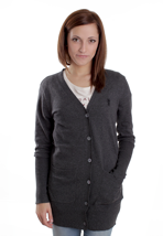 Wesc - Angelina Charcoal Melange - Girl Cardigan