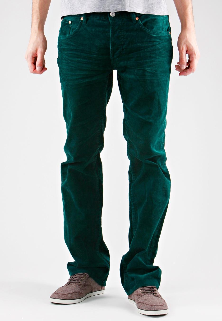 Wesc - Wesc Slim 5 Pocket Moss Green Cord - Pants - Streetwear ...