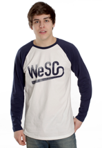 Wesc - WeSC Baseball Winter White - Longsleeve