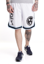 Whitechapel - Sawblade Blue Striped White - Shorts