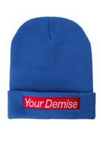 Your Demise - Logo Navy - Long Beanie