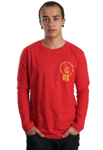 Your Demise - Skeleton Peace Red - Longsleeve